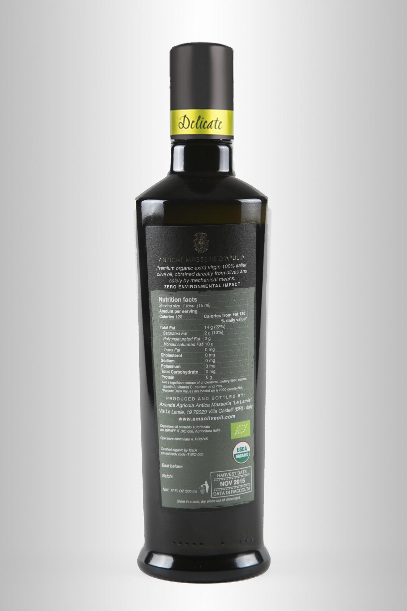 Bottiglia olio Delicate 500ml B